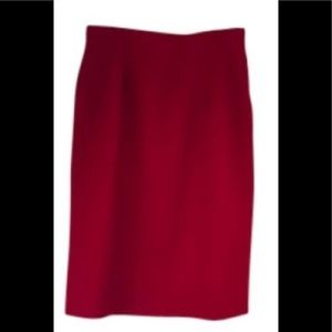 Summer Wool Red 12 pencil skirt quality vintage L